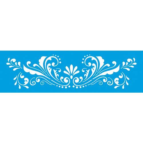 Stencil Epoca Arabesco Flor 8,4x28,5 Ste179 Litoarte