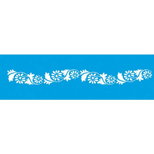 Stencil Epoca Arabesco Flor 8,4x28,5 Ste187 Litoarte
