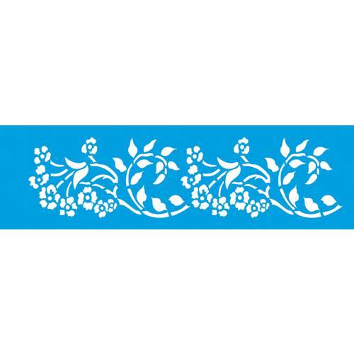 Stencil Epoca Arabesco Flor 8,4x28,5 Ste188 Litoarte 8.4x28.5