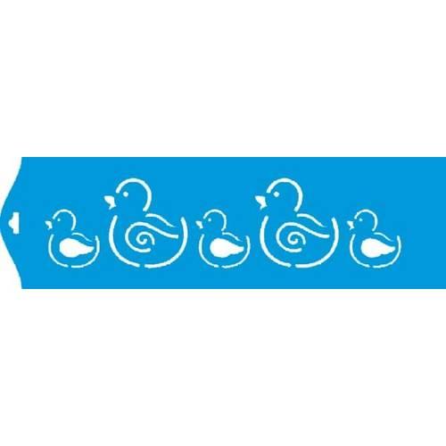 Stencil Epoca Pato 8,4x28,5 Ste004 Litoarte