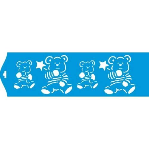 Stencil Epoca Ursinhos 8,4x28,5 Ste005 Litoarte