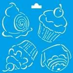 Stencil Especial Cupcake 10x10 Stx-059 Litoarte