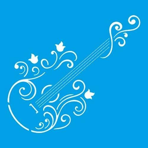 Stencil Especial Guitarra 10x10 Stx-103 Litoarte