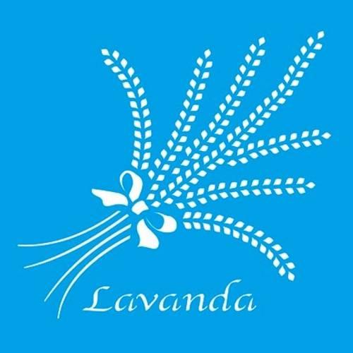 Stencil Especial Lavanda 10x10 Stx-093 Litoarte