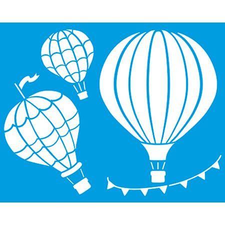 Stencil Litoarte 20 X 25 Cm - STR-043 Balões de Ar Quente
