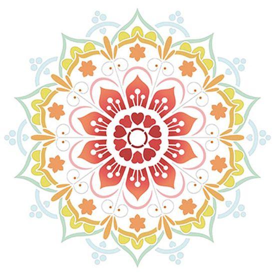 Stencil Litoarte 30x30 STQG-023 Mandala