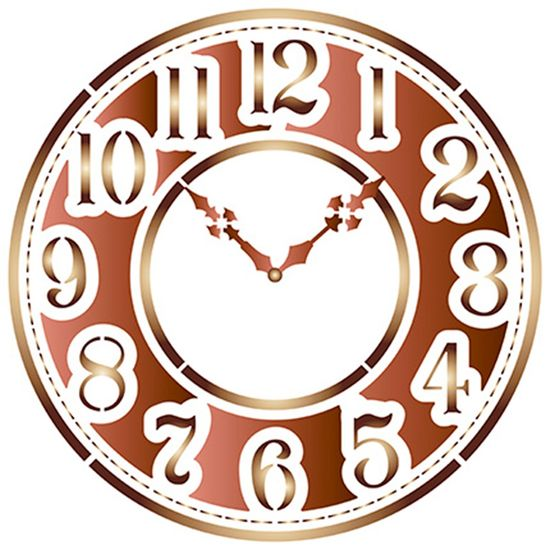 Stencil Litoarte 30x30 STQG-016 Relógio