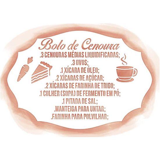 Stencil Litoarte 21,1x14,8 STA2-036 Receita Bolo de Cenoura