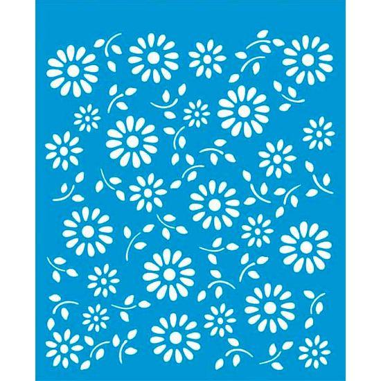 Stencil Litoarte 21,1x17,2 STM-022 Flores