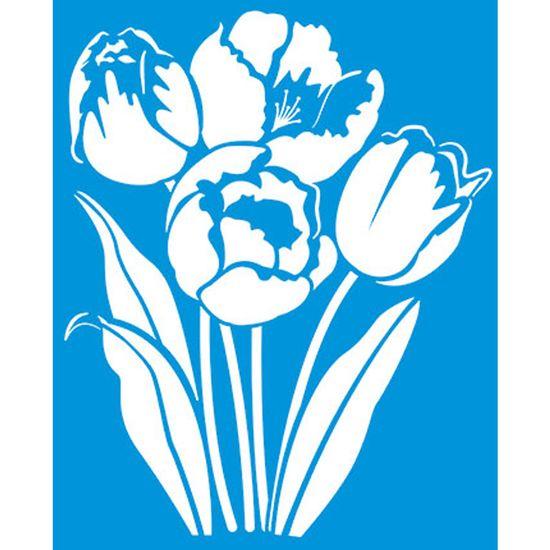 Stencil Litoarte 21,1x17,2 STM-300 Flores