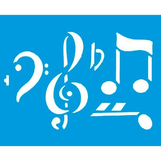 Stencil Litoarte 21,1x17,2 STM-007 Notas Musicais