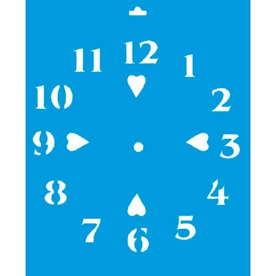 Stencil Litoarte 21,1x17,2 STM-009 Relógio