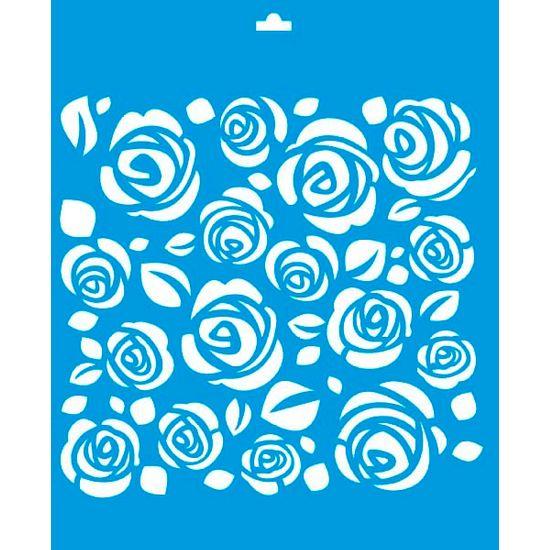 Stencil Litoarte 21,1x17,2 STM-018 Flores