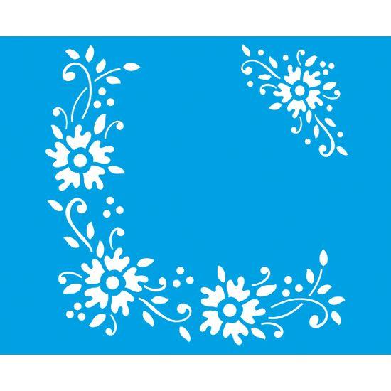 Stencil Litoarte 21,1x17,2 STM-054 Flores