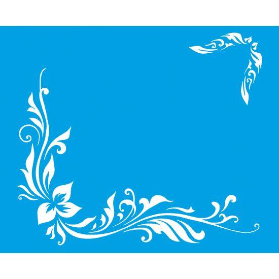 Stencil Litoarte 21,1x17,2 STM-056 Flores