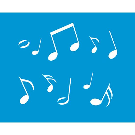 Stencil Litoarte 21,1x17,2 STM-061 Notas Musicais