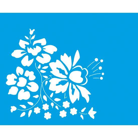 Stencil Litoarte 21,1x17,2 STM-106 Flores