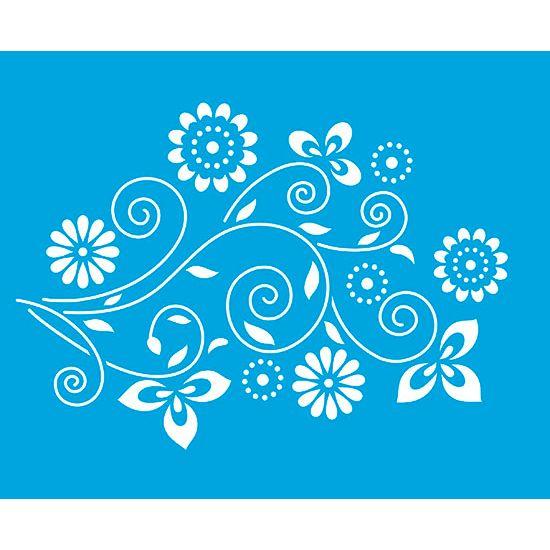 Stencil Litoarte 21,1x17,2 STM-160 Flores