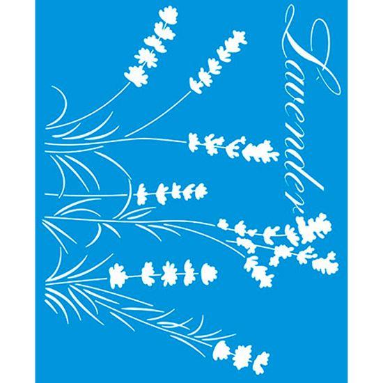 Stencil Litoarte 21,1x17,2 STM-319 Flor