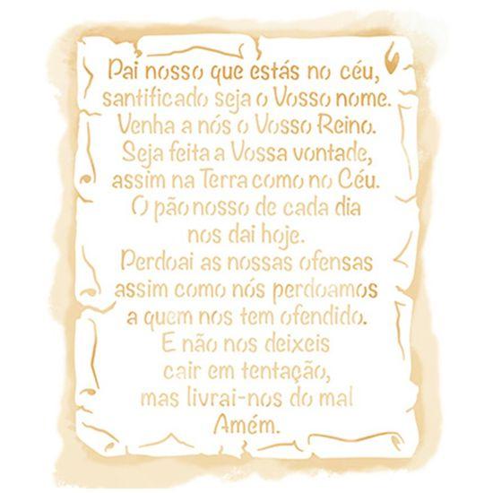 Stencil Litoarte 21,1x17,2 STM-657 Pai Nosso no Pergaminho