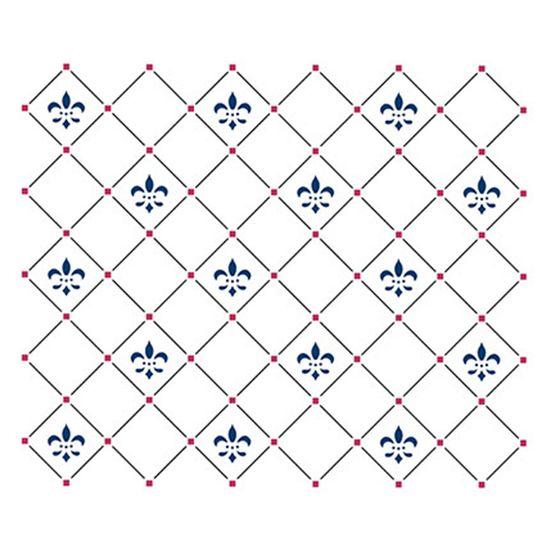 Stencil Litoarte 21,1x17,2 STM-285 Flor de Lis Textura