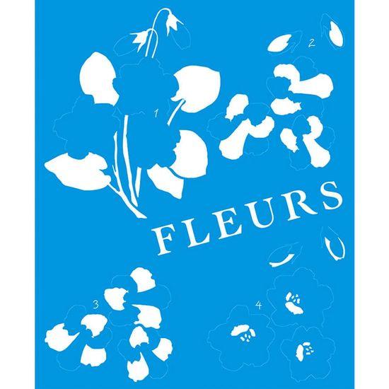 Stencil Litoarte 21,1x17,2 STM1-044 Flores