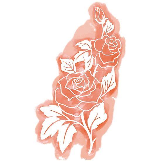 Stencil Litoarte 31,8x17,7 STA3-027 Rosas