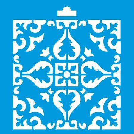 Stencil Litoarte 10 X 10 Cm - ST-X-002 Azulejo