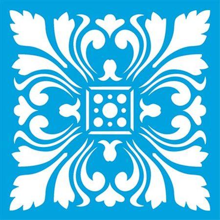 Stencil Litoarte 10 X 10 Cm - ST-X-314 Azulejo