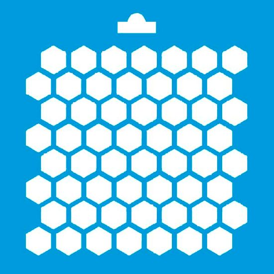 Stencil Litoarte 10x10 STX-033 Colmeia