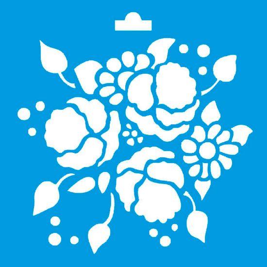 Stencil Litoarte 10x10 STX-054 Flores