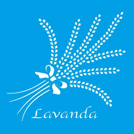 Stencil Litoarte 10x10 STX-093 Lavanda