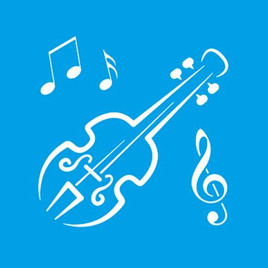 Stencil Litoarte 10x10 STX-099 Violino