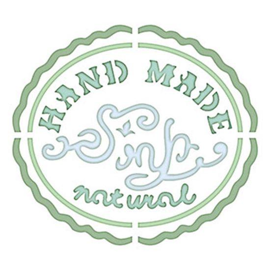 Stencil Litoarte 10x10 STX-333 Selo Hand Made Natural