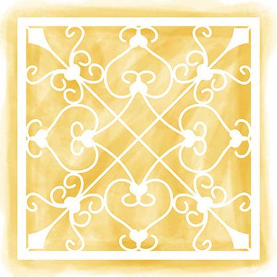 Stencil Litoarte 14x14 STA-113 Azulejo e Arabescos