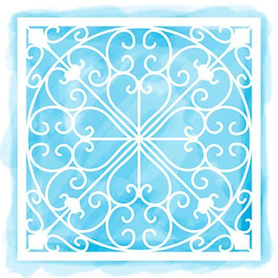 Stencil Litoarte 14x14 STA-114 Azulejo e Arabescos