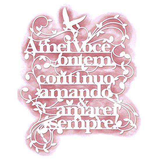 Stencil Litoarte 16,5X20,2 STA2-008 Amor