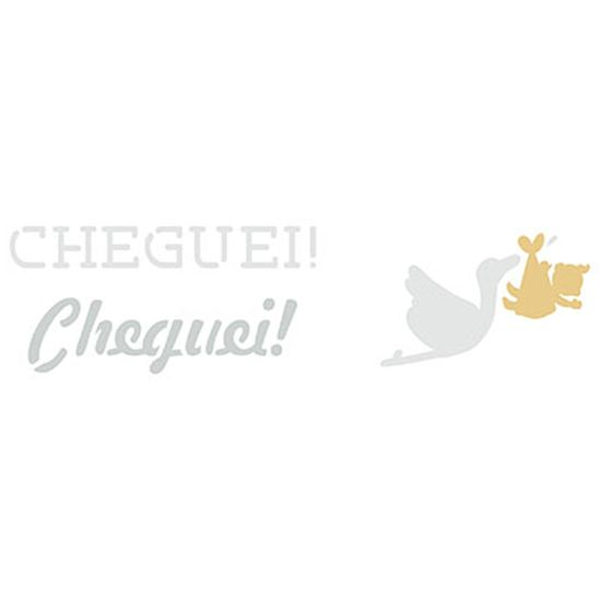 Stencil Litoarte 17x6,5 STP-118 Cheguei