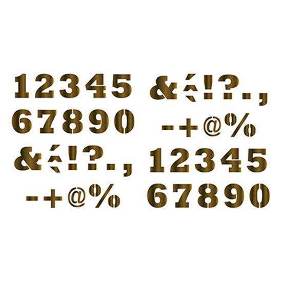 Stencil Litoarte 34,4x21 ST-085 Números