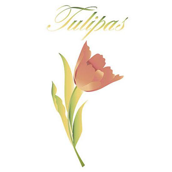 Stencil Litoarte 34,4x21 ST-115 Flor Tulipa