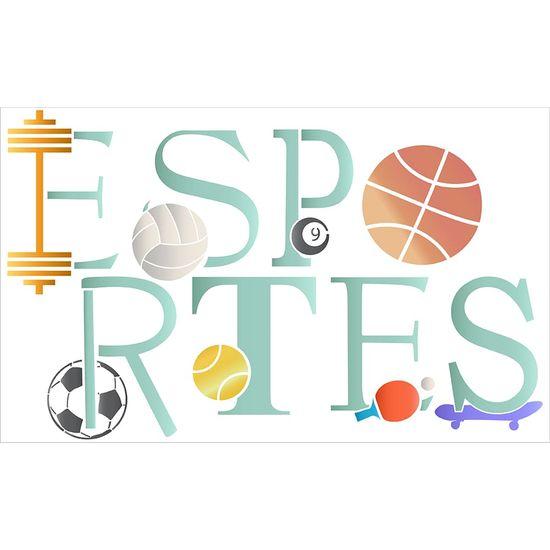 Stencil Litoarte 34,4x21 ST-395 Esportes