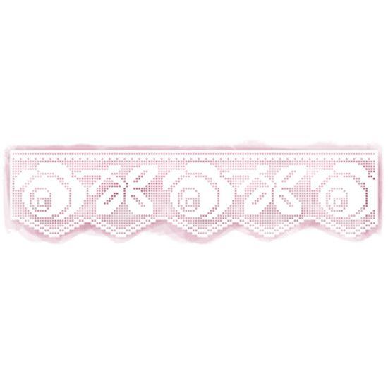 Stencil Litoarte 41,7x9,8 STAG1-004 Renda Rosas