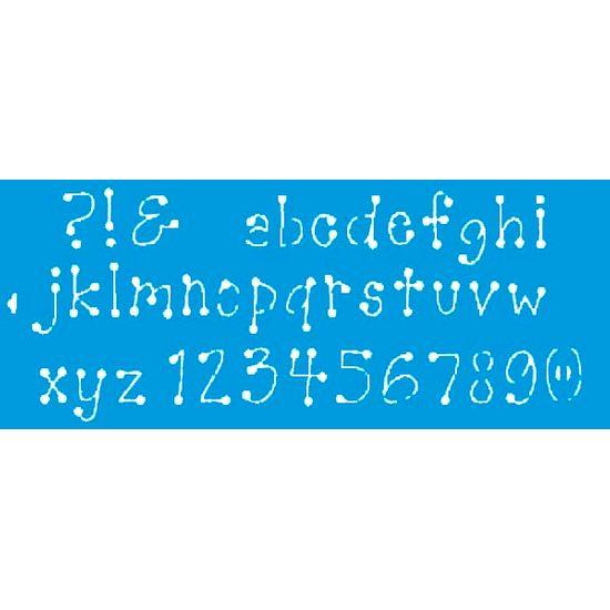 Stencil Litoarte 42x17 STG-022 Letras e Números