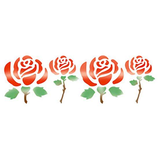 Stencil Litoarte 8,4x28,5 STE-040 Rosas