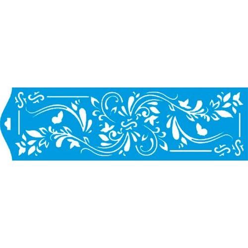 Stencil Litoarte 8,4x28,5 STE-113 Arabesco Flor