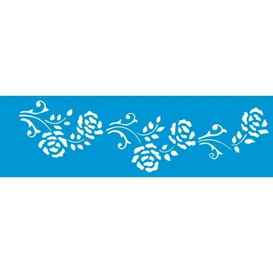 Stencil Litoarte 8,4x28,5 STE-150 Arabesco Flor
