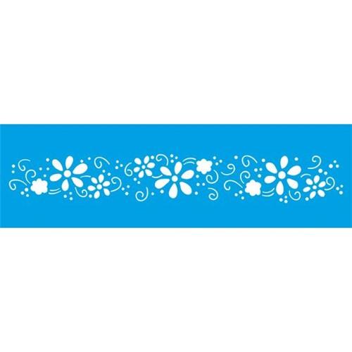 Stencil Litoarte 8,4x28,5 STE-176 Arabesco Flor