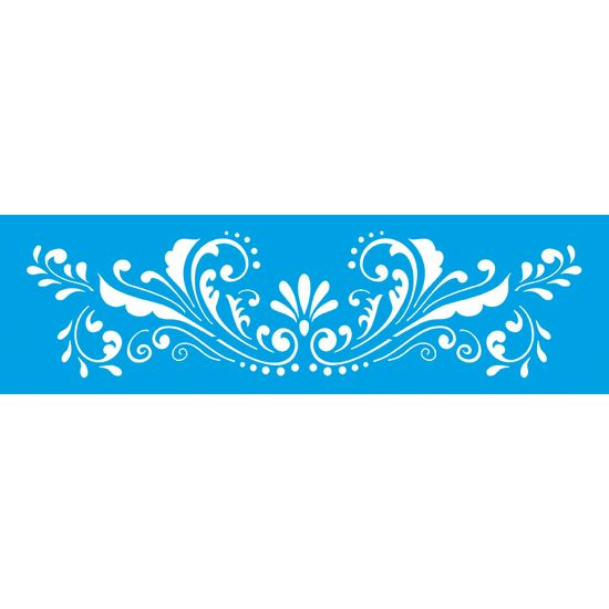 Stencil Litoarte 8,4x28,5 STE-179 Arabesco Flor