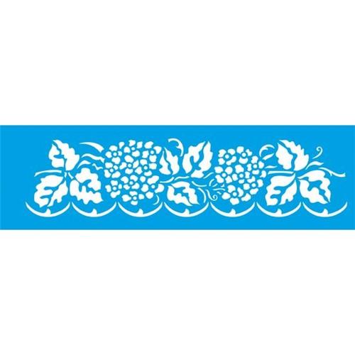 Stencil Litoarte 8,4x28,5 STE-195 Flor e Folhagem