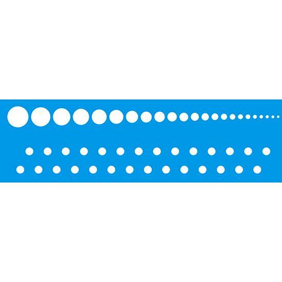 Stencil Litoarte 8,4x28,5 STE-254 Círculos